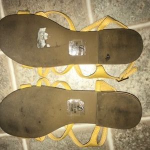 Cityclassified Shoes - City Classified Yellow Sandals, Size 7